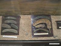 Каменные и железные серпы, ножи.