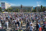 Велопарад Саратов-2017. Старт на Театральной площади.