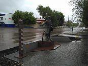 Памятник Петрову-Водкину.
