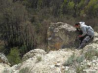 Вторая пещерка, инструктор бдит наверху.