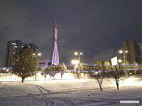 Памятник ракетоносителю «Союз».