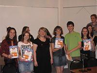 Награждение именными дипломами членов команды «Антигены» Саратовского ГМУ.