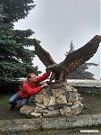 Хищная птица - один из основных мотивов в скульптуре Пятигорска.
