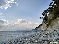 Пляж кемпинга «Голубая бездна».