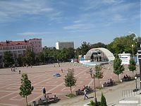 Вид на центральную городскую площадь.
