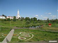 Ухоженный городской парк.