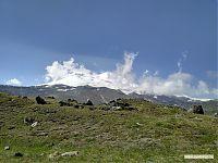 Эльбрус с севера, вид с верхней части «Аэродрома» (высота примерно 2 850).