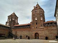 Историческая часть Мирского замка.