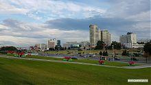 Один из центральных проспектов Минска.