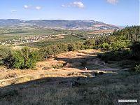 Вид на оборонительные сооружения Сапун-горы.