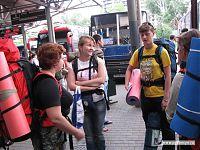 В полной экипировке стоим возле автобуса на Майкоп.