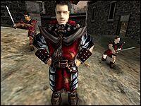 Скорпио один из тех стражников, что сумели выслужиться перед Гомезом и за свои заслуги получили право жить в замке.