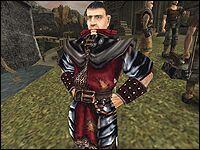Бладвин один из трёх стражников, собирающих руду за защиту с рудокопов, живущих во Внешнем кольце Старого Лагеря.