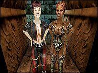 Чани и Наталья — девушки, живущие в храме в Болотном лагере, в личных покоях самого Ю'Бериона.
