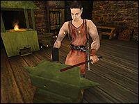 Стоун — кузнец, работающий на баронов Старого Лагеря.