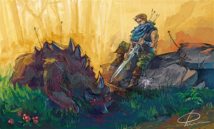Мракорис пал от меча героя.