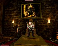 Гомез на троне.