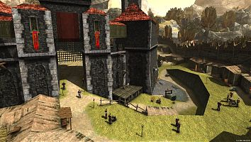 Вид на Внешнее кольцо и замок Старого лагеря.