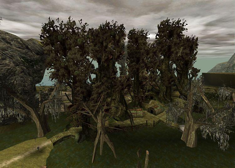 Первая «Готика». Бескрайние болота Болотного лагеря.