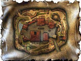 Карта-схема Старого лагеря.