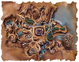 Карта Рудниковой долины с землями орков.