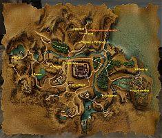 Карта Рудниковой долины с местоположением сюжетных персонажей.
