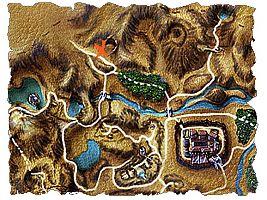 Карта пути к Старой шахте.