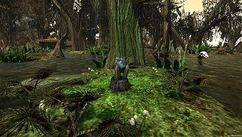 Странный алтарь на болотах.