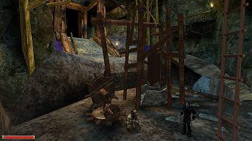 Орк-раб около пресса на нижнем ярусе Старой шахты.