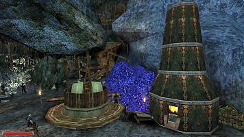 Плавильная печь на нижнем ярусе Старой шахты.
