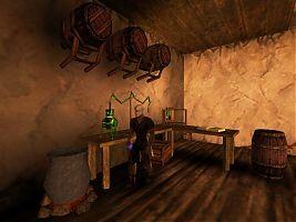 Иеремия варит рисовый шнапс в задней комнате таверны Нового лагеря.