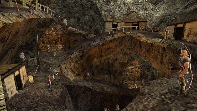 Свободная шахта.
