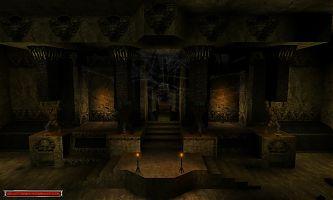 Внутреннее убранство храма Спящего.