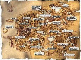 Карта Хориниса с указанием квестовых мест.
