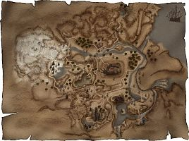 Карта Рудниковой долины (Миненталя).
