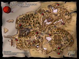 Карта пещер Хориниса с указанием расположения яиц драконов.