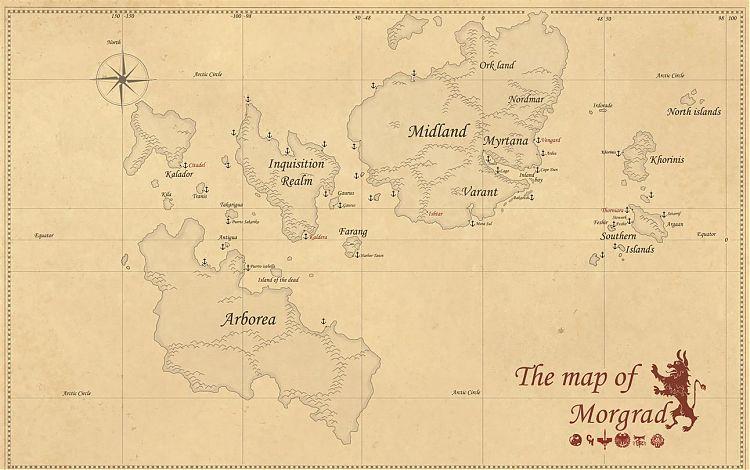 Карта Модрага.