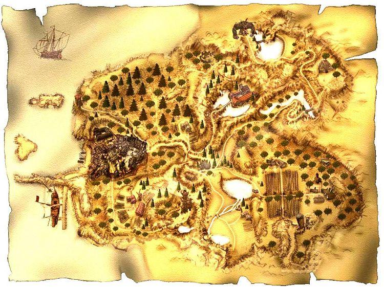 Карта провинции Хоринис.