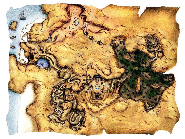 Карта Долины строителей (Яркендара).