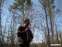 Руководитель ведёт дневник похода - начитывает на диктофон, где мы, сколько прошли, и что интересного по пути случилось.