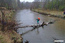 Переправа через самую широкую из имевшихся на маршруте реку.