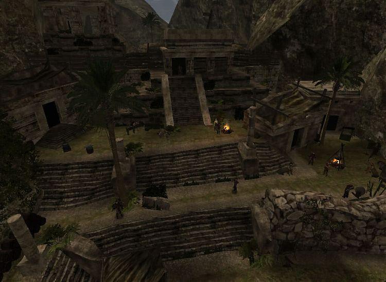 Лагерь бандитов.