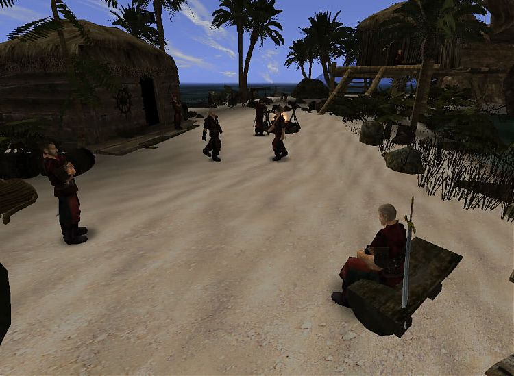 Лагерь пиратов.