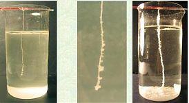 Оседание на затравке кристаллов соли из перенасыщенного солевого раствора.