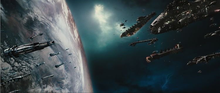 Столкновение флота Пожирателей с военными силами Альянса.