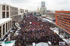Митинг на проспекте Сахарова в Москве. Ориентировочно 70-80 тысяч человек.