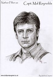 Nathan Fillion as Mal Reynolds from Firefly