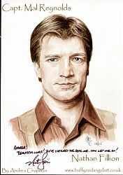 Nathan Fillion as Capt Mal Reynolds from Firefly
