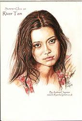 Summer Glau as River Tam Sketch