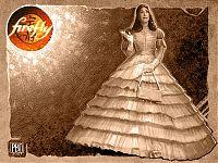 «Мисс Кейвиннит Ли Фрай со спутником». Кейли только что купили роскошное платье и привели на бал. И плевать, что не по собственной инициативе, а чтобы выполнить задание. Главное — привели на бал! Эпизод «Вечеринка».